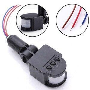Image 2 - 180 Draaibare Outdoor Infrarood PIR Motion Sensor Detector 110 220V Muur Lichtschakelaar energiebesparende Verlichting Schakelaar #63