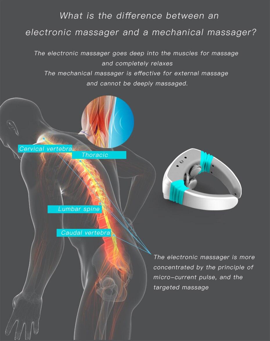 Massageador acupuntura alívio dor dezenas terapia magnética