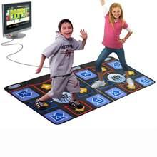 16 Bit Double Dance Pad Non-slip TV Dance Mat Electronic Pad for TV Built in 218 Song Dance Mat Dance Revolution Pump It Up Game