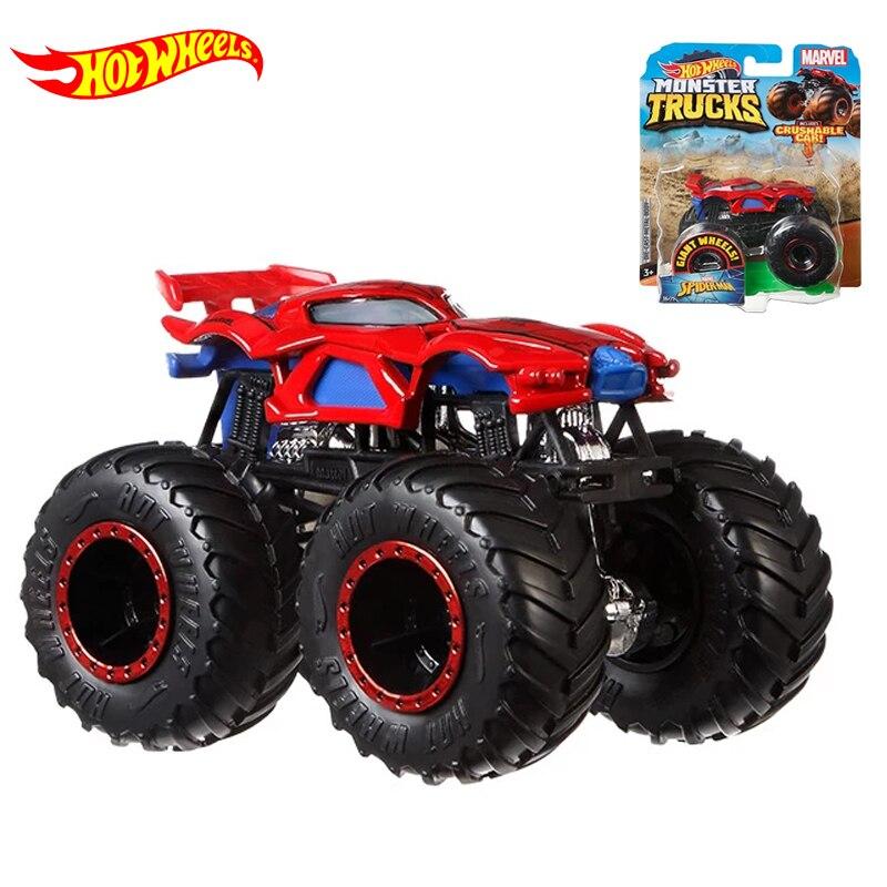 Original Hot Wheels Car 1:64 Giant Wheels  Monster Truck Model Car Toy Hotwheels Car Toys for Boys Big Foot Birthday Gift