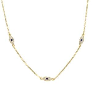 Image 2 - 2018 Fine silver jewelry minimal delicate cz Turkish evil eye charm dainty choker collarbone adorable women girl chain necklace