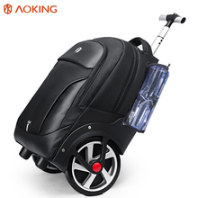 Aoking Men #8217 s ABS Trolley Luggage Travel Bags Large Capacity Trolley Bags Waterproof Carry-on Bags Business Trip Luggage cheap CN(Origin) Polyester Versatile 20cm 34cm zipper Travel Duffle 2 94kg SLN67751 SOFT Fashion 47cm Solid Large Capacity Waterproof Zippers Tear Resistance