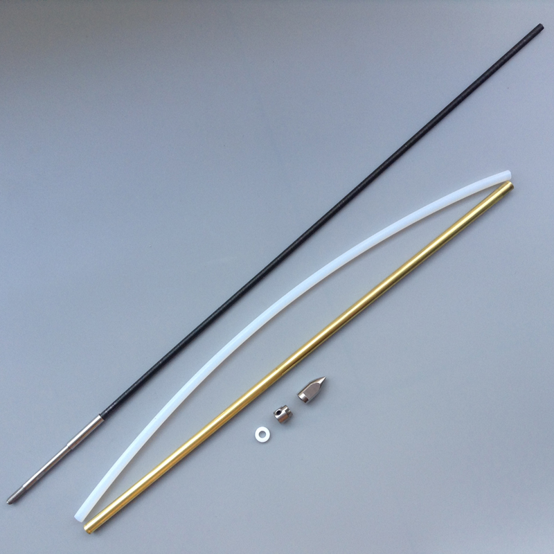 1Set 4mm Welded Flexible Cable Drive Shaft + Bushing  Bullet  Gasket  Propeller Crutch Kit Spare Parst for RC Electric Boat