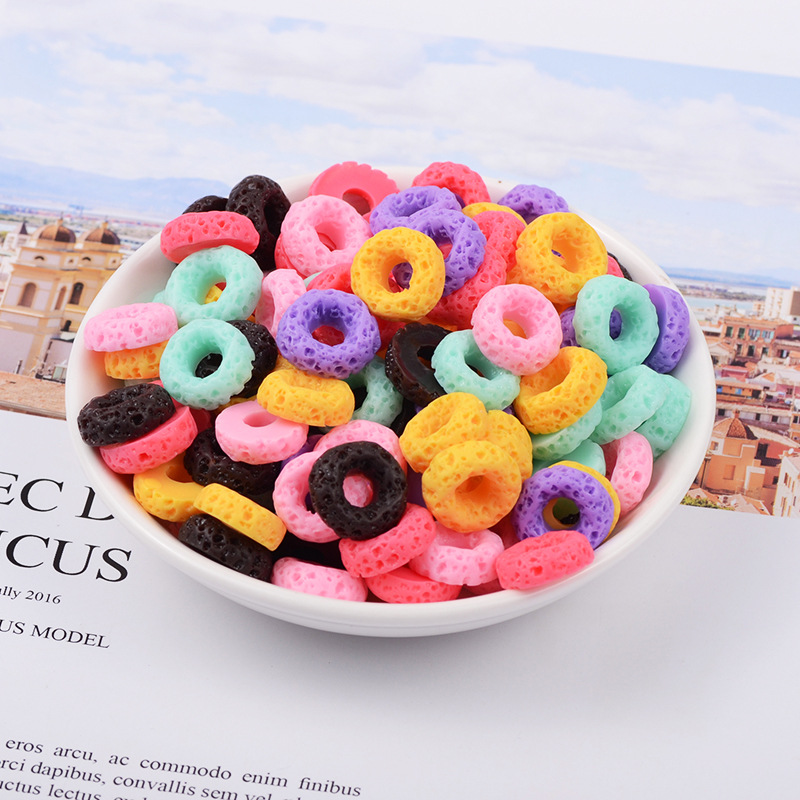 Slime charms Colorful Mini Donut Addition Slime Filler for Slime Polymer Addition Slime Accessories Toy Model Tool for Kids Toys 4