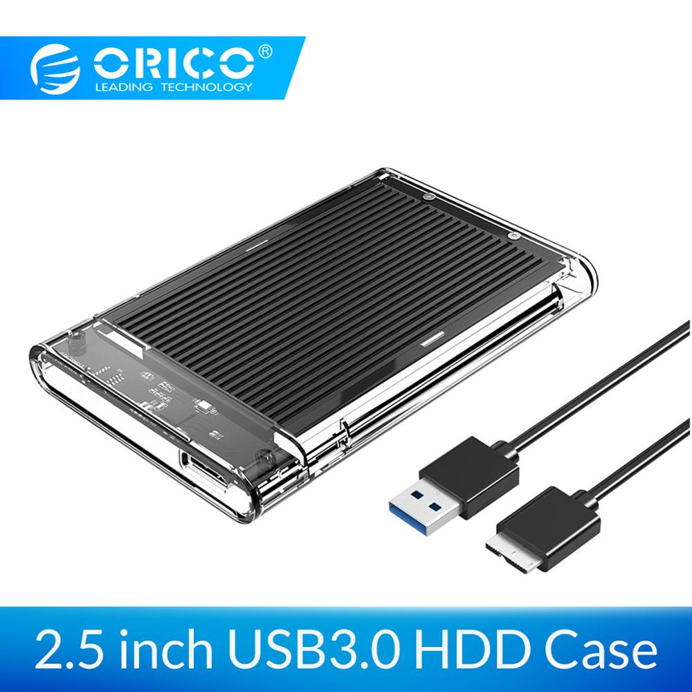 ORICO HDD Enclosure SATA To USB 3.0 HDD Case Tool Free For 7/9.5mm 2.5 Inch Sata SSD Up To 4TB Hard Disk Box External HDD Case
