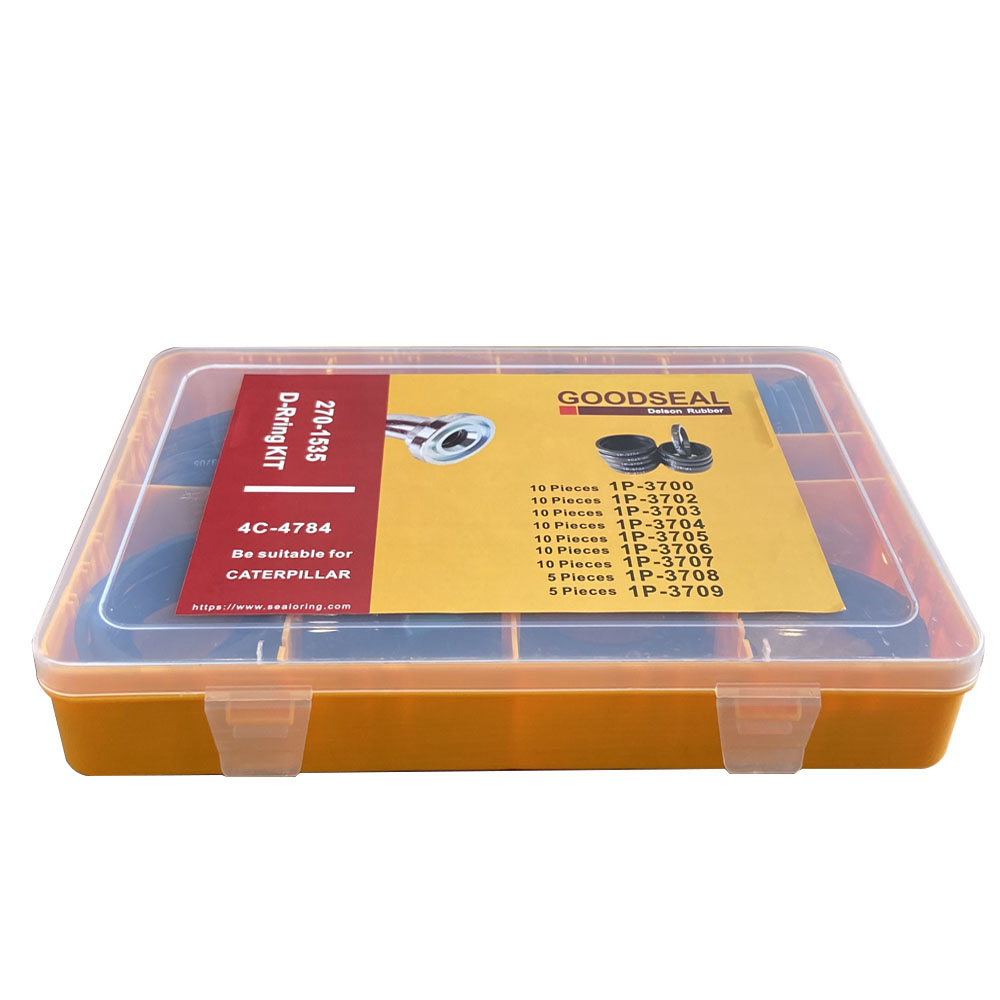fabrica de alta qualidade caterpillar d ring kit para 4c 4784 9 tamanhos borracha plana d