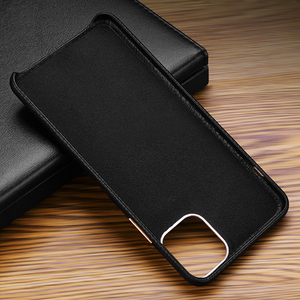 Image 4 - MYL LZP Lambskin Back Cover Case For iphone 12 11 Pro Max Genuine Leather Lichee Pattern Case For Apple iphone 12mini Phone case