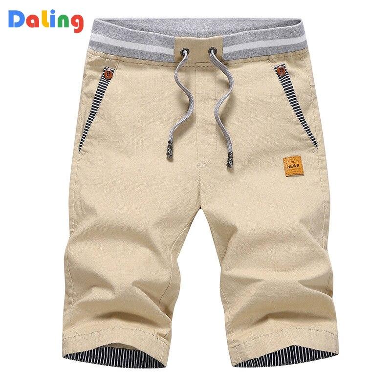Summer Cargo Shorts Mens Casual Elastic Waist Cotton Beach Shorts Male Fashion Breathable Shorts Homme Clothing Bermuda 4XL