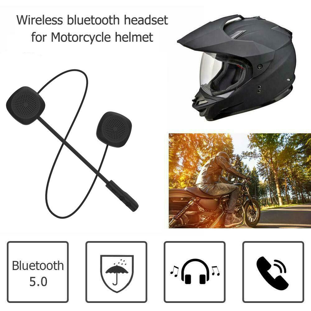 Cheap MH04 Motorcycle Helmet Headset Wireless Bluetooth 5.0 HandsFree Headphones for Safety