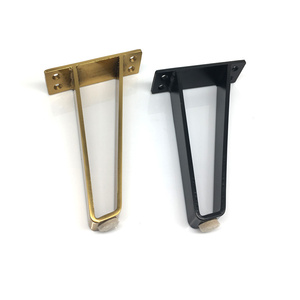 Image 5 - U 字型ゴールドヘアピンテーブルデスクの脚ブラケットプロテクター 18 センチメートル固体鉄支持脚家具ソファキャビネット椅子 diy ハードウェア