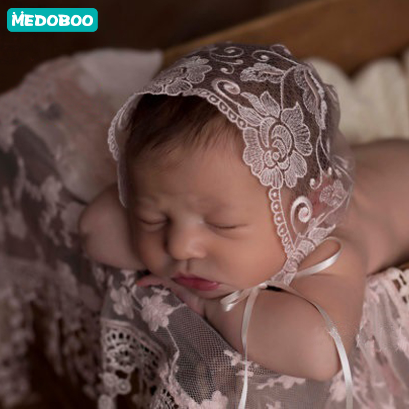 Medoboo Baby Hat For Girls Boys Lace Newborn Photography Props Tire Caps Infant Clothes