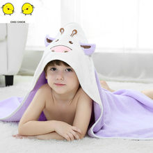 Soft Baby Kids Bathing Towels Baby Blankets Lovely Hooded Towel Baby Bath Towel Baby Swaddle Wrap Hooded Animal Blanket(China)