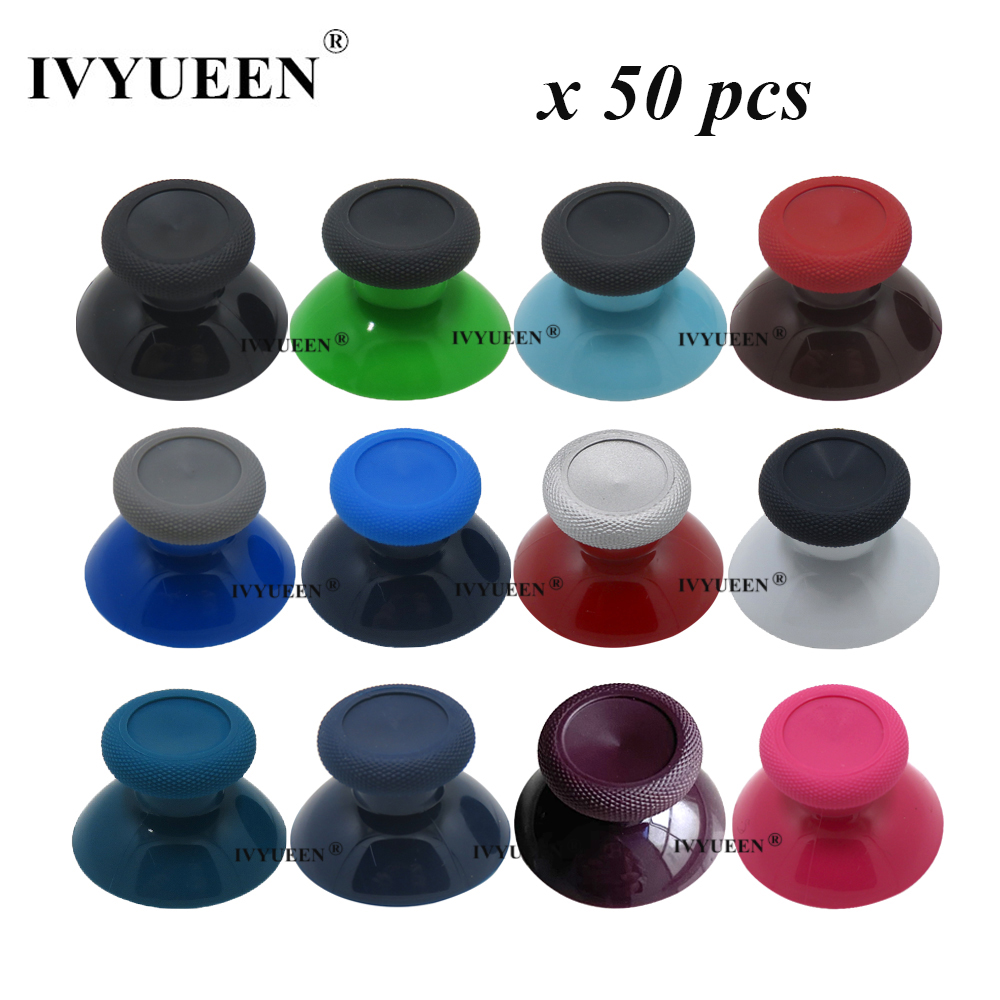 IVYUEEN 50 PCS Original 3D Analog Thumb Sticks Grip Caps For XBox One X S Controller ThumbSticks Cover Game Accessories