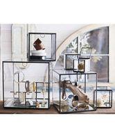 Creative Glass Storage Box Jewelry Box Glass Flower Room Drawer Organizer