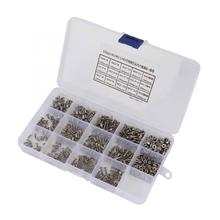 Stainless Self Tapping Screws 130pcs M6*25\M6*16\M6*20\M6*8\M6*12 Steel Hex Screw and M6 Nut Gasket Set Brass