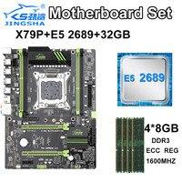 JINGSHA X79 P 마더 보드 LGA2011 CPU MATX SATA3 PCI-E NVME M.2 SSD X79 LGA 2011 Motherbboard Duad 채널 DDR3 최대 64GB
