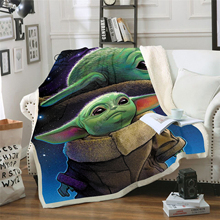 Star Wars Baby Yoda Blanket Design Flannel Fleece Blanket Printed Children Warm Bed Throw Blanket Kids Blanket style-7