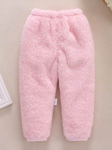 Newborn Pants Trousers Baby Fleece Warm Toddler Baby-Girls Winter Fashion Solid