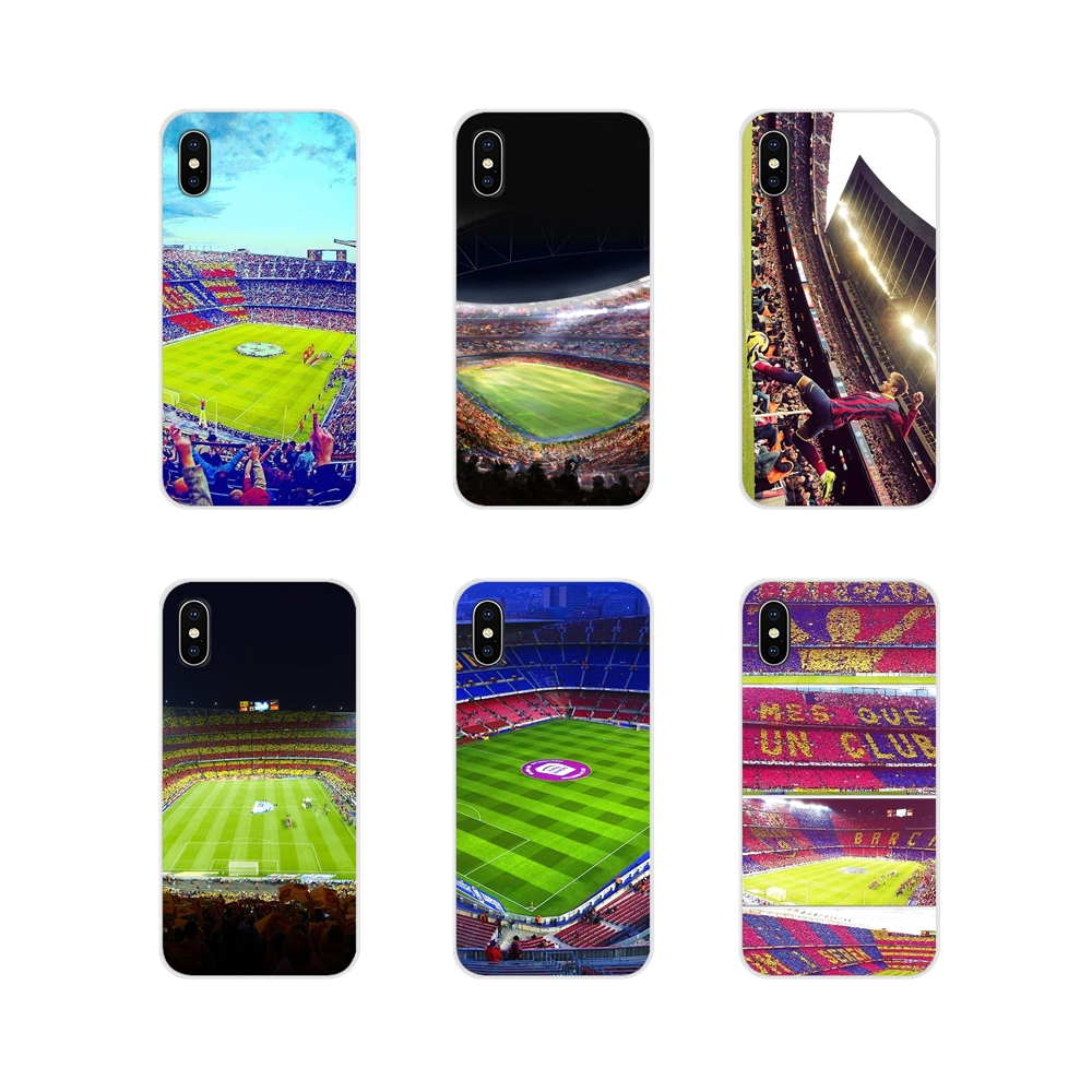 Barcelona Home stadion piłkarski dla Huawei Nova 2 3 2i 3i Y6 Y7 Y9 Prime Pro GR3 GR5 2017 2018 2019 Y5II Y6II etui silikonowe