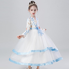 Kids Bridesmaid Flower Dresses For Party and Wedding Dress Children Pageant Gown Girls Princess Dress Toddler Girl Clothing brand girl white ivory real party pageant communion dress girls kids children bridesmaid toddler princess tutu wedding dress d12