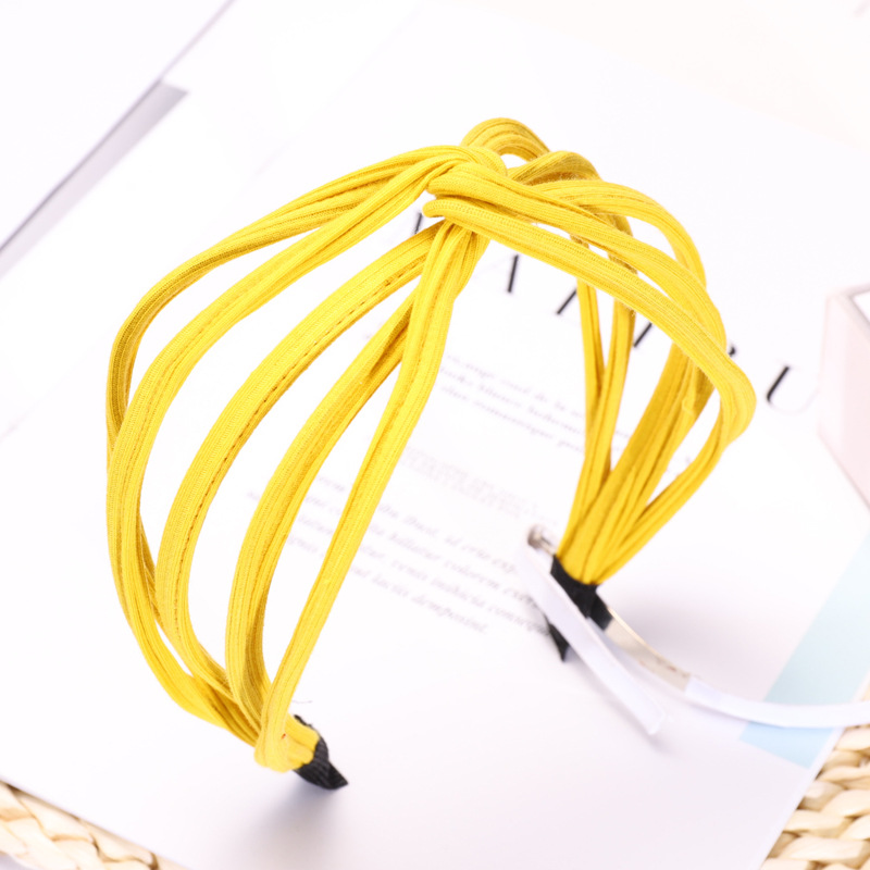 Fashion Simple Pinstripe Women Hairband Headband Knitted Cross Hair Hoop Solid Color Korean Headdress Headwear in Women 39 s Hair Accessories from Apparel Accessories