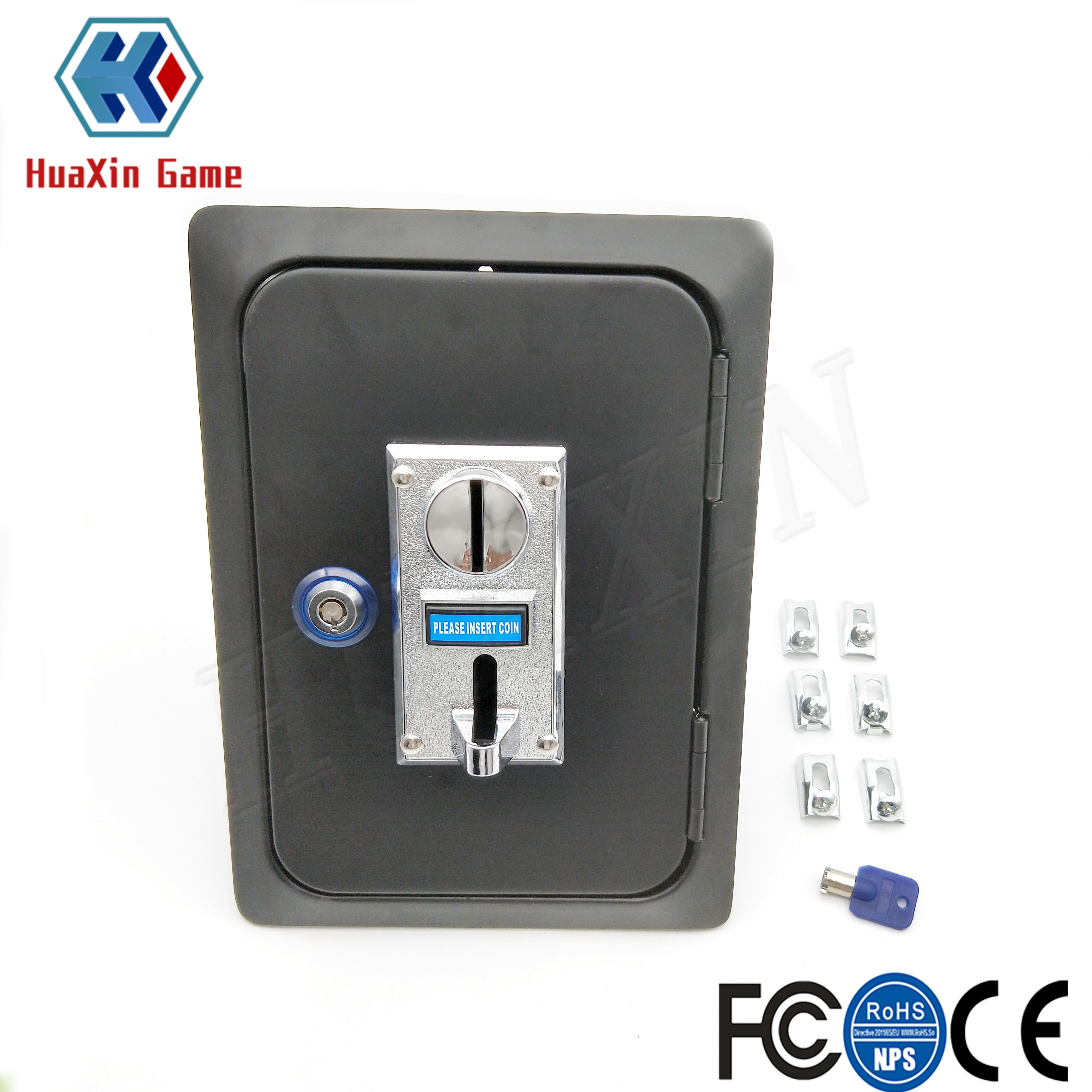 Аркадная монета, дверь с 6 видами различных мульти-акцептор селектора монет и замок для аркадных видеоигр, торговый автомат