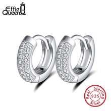 Женские винтажные серьги кольца из серебра 925 пробы с прозрачным