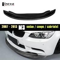 for BMW 2007 2013 M3 Carbon Fiber front Bumper Lip E90 M3 E92 M3 E93 M3