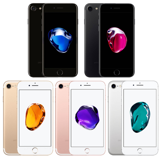 Unlocked Apple iPhone 7 4G LTE Cell Phone 32/128GB 1960mA 12.0MP Camera Quad-Core Fingerprint 12MP Original factory  99%new