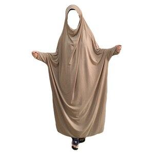 Image 3 - Ramadan muzułmanin Burqa Abaya kobiety hidżab modlitwa sukienka Islam napowietrznych Burka Niqab długi Khimar Kaftan szata arabski bliski wschód odzież