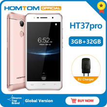 Original version HOMTOM HT37 Pro 4G Smartphone MTK6737 5.0 Inch HD Android 7.0 3GB+32GB 13MP 3000mAh Fingerprint ID Mobile Phone