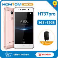 Version originale HOMTOM HT37 Pro 4G Smartphone MTK6737 5.0 pouces HD Android 7.0 3GB + 32GB 13MP 3000mAh identification d'empreintes digitales téléphone portable
