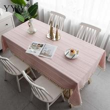 цена на Table Cloth Pink Mats Rectangular Tablecloths In Cotton Fabric Table Cover Tablecloths Mantel Mesa Oilcloth On The Table Tapete