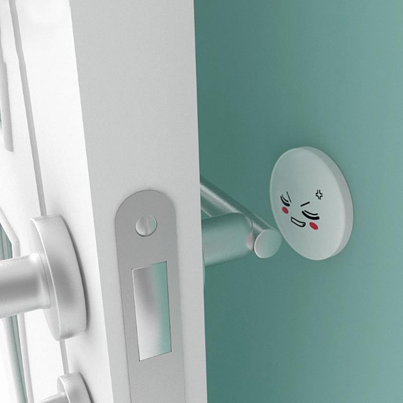 2019 New 4 Pcs Silicone Door Handle Knob Crash Pad Self Adhesive Anti Collision For Home