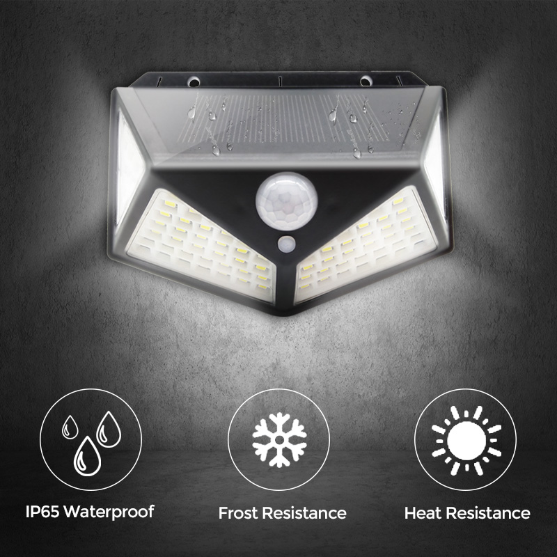 100 LED Solar Light Outdoor Solar Lamp PIR Motion Sensor Wall Light Waterproof Solar Sunlight Powered Garden street light (7)