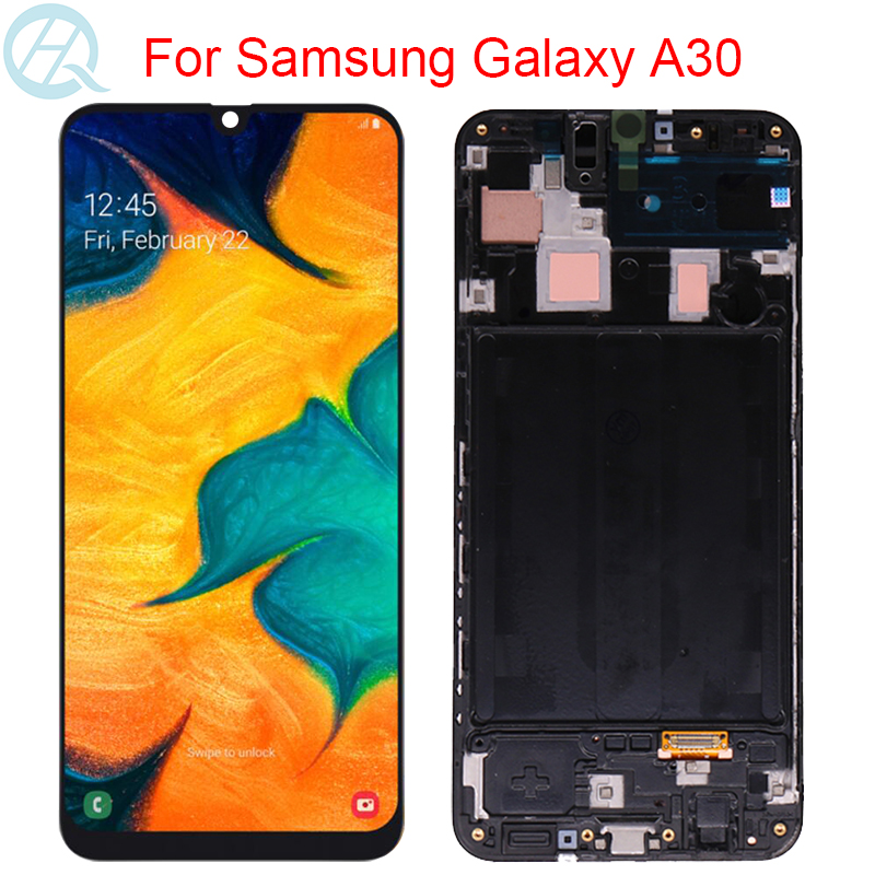 AMOLED Display For Samsung Galaxy A30 A305F LCD With Frame 6.4