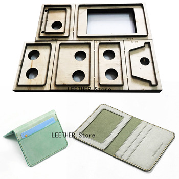 New Japan Steel Blade Rule Die Cut Punch Card bag wallet Cutting Mold Wood Dies for Leather Cutter for Leather Crafts