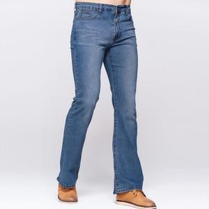 Image 3 - Мужские облегающие джинсы GRG, классические Стрейчевые небесно голубые джинсы с потертостями, повседневные Стрейчевые джинсы