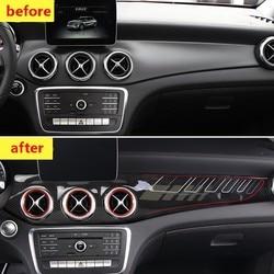 Стикеры из углеродного волокна для Mercedes GLA/CL250 w117/GLA X156/220/GLA AMG/CLA 45, модифицированные аксессуары для внутренней панели управления