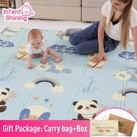 Estera brillante para bebés, alfombra para niños, alfombra para juegos de bebés, juego de rompecabezas de espuma XPE de 200*180*1cm pad para niños educativos estera