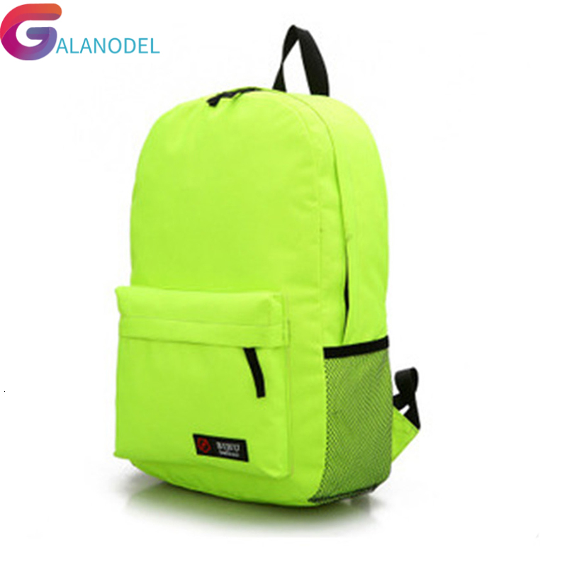 Canvas Casual School Backpack Women Lovely Candy Color Backpack Teenager Large Capacity Ladies Laptop Bags Escolar Mochila