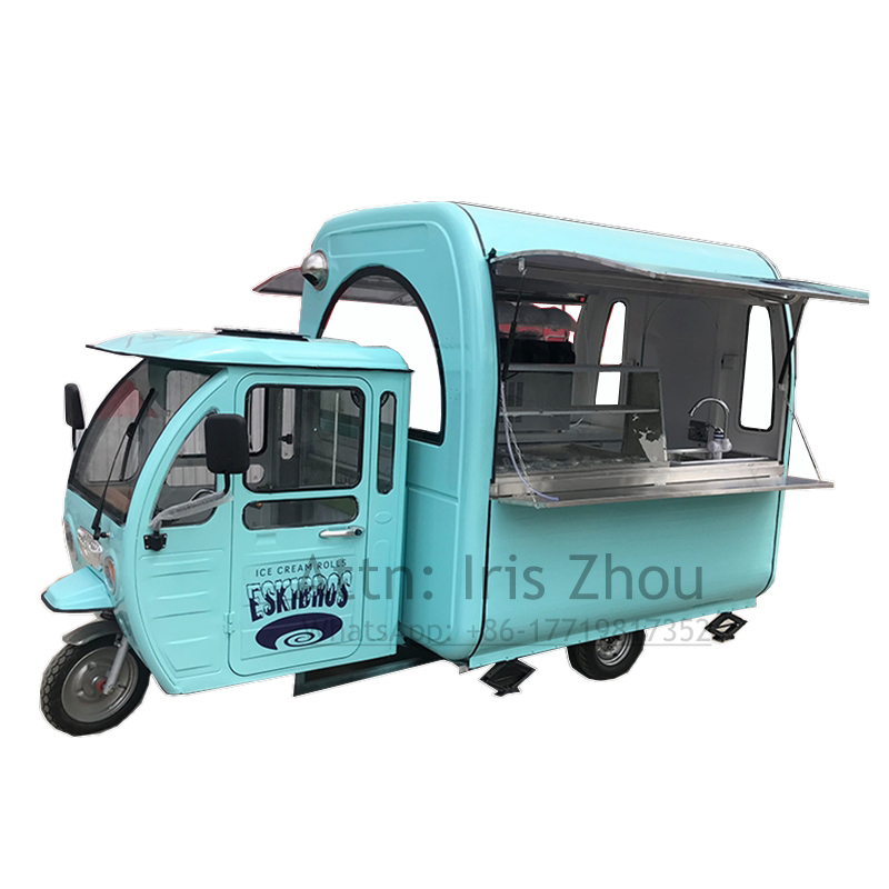 New Fast Food Tricycle/Tricycle Food Cart Outdoor Mobile Food Truck