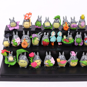Image 5 - جارتي توتورو Kawaii شخصيات بلاستيكية صغيرة Brinquedo وعاء الديكور دمى اللعب 30 قطعة/المجموعة