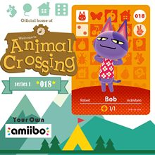 018 Bob Animal Crossing Bob Amiibo 동물 교차점 스위치 Rv Welcome Amiibo Villager New Horizons Amiibo 카드 선물 크로스 카드(China)