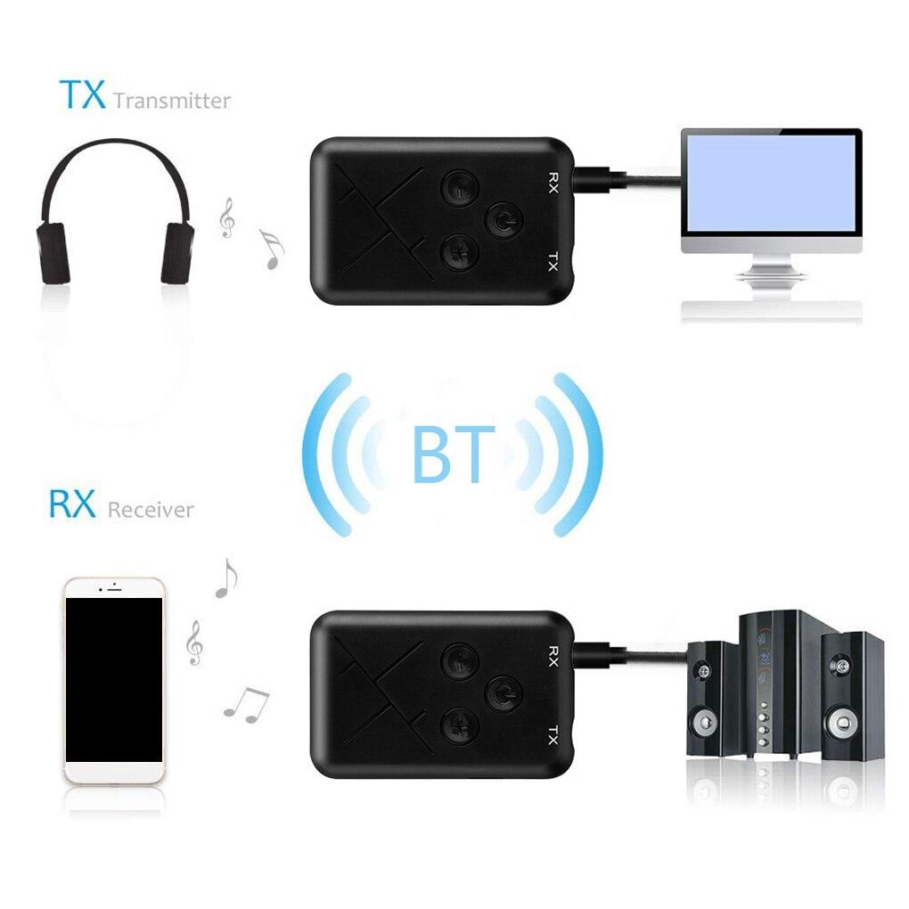 Новый 3,5 мм аудио беспроводной Bluetooth 4,2 передатчик приемник 2 в 1 стерео аудио адаптер для ТВ автомобильный динамик музыка