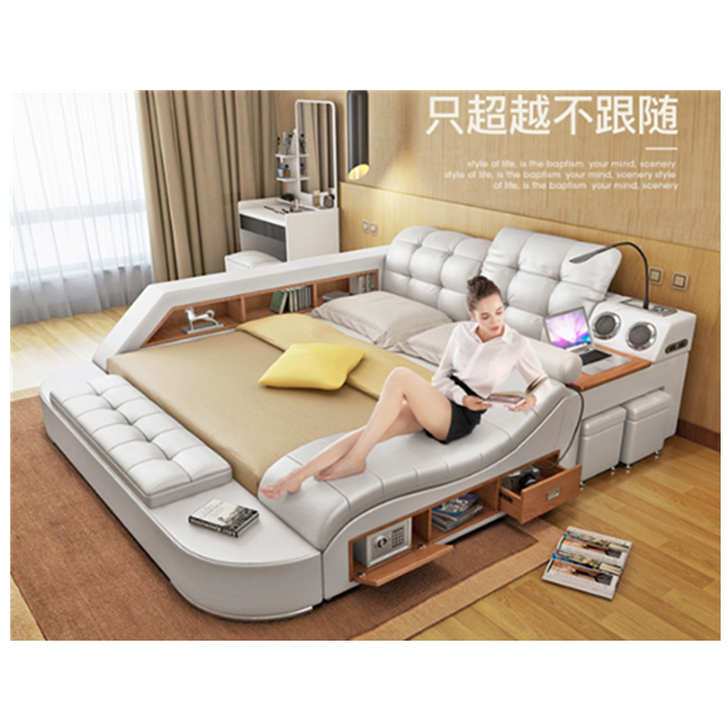 Modern Multifunctional Leather Bed With Massage Bedroom Sets Aliexpress