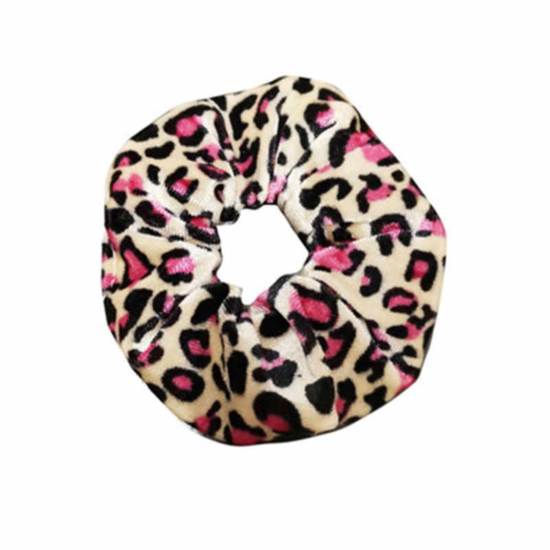 1pc Gute Qualität Leopard Weisespitzeperlenhaarband Mädchen Elastische Haar Seil Band Frauen Scrunchies Samt Pferdeschwanz Halter Haar Zubehör
