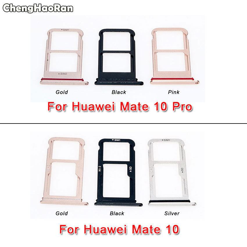 ChengHaoRan For Huawei Mate 10/Mate 10 Pro/Mate 10 Lite G10 Honor 9i SIM Tray Card Reader Holder Slot Connector Repair Parts