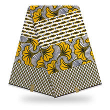 3ヤードのアフリカ生地ワックス高品質本物のワックス女性のためのドレスプリントアフリカ2019アンカラ生地卸売