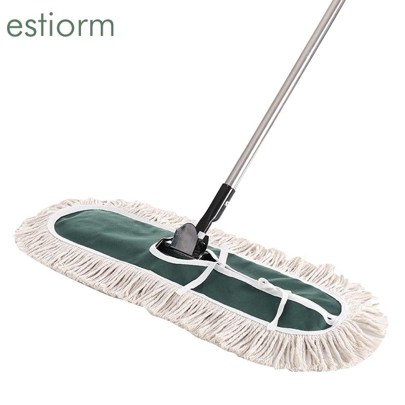 Large cotton thread Flat Mop with adjustable Handle Hardwood Floor clean Office home Industrial Mop Cleaner Dry Dust floor Mop